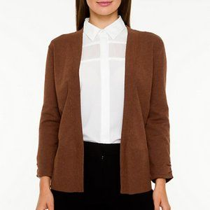 Le Chateau Open Knit Cardigan Brown Size Large